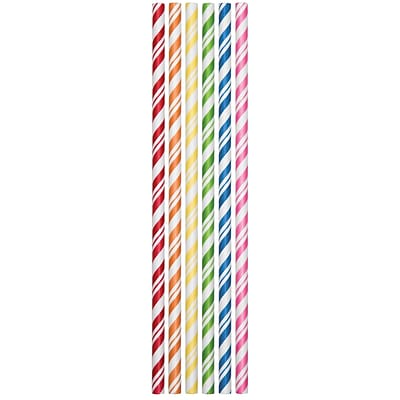 Creative Converting Paper Straws, Assorted, 24/Pack (090410)
