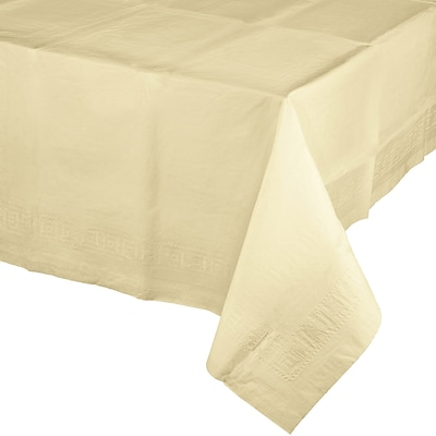 Touch of Color Paper Tablecloth, Ivory (710207B)