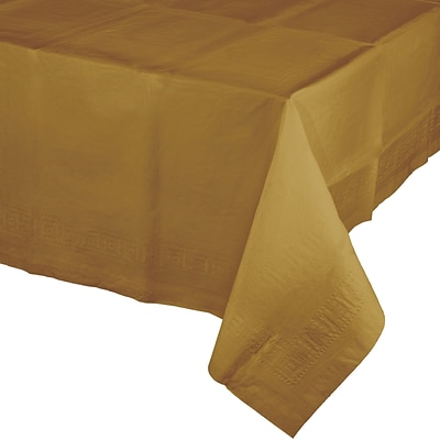 Touch of Color Glittering Gold Paper Tablecloth (710203B)
