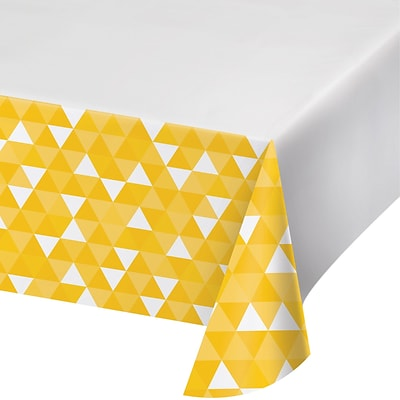 Celebrations School Bus Yellow Fractal Plastic Tablecloth (324459)