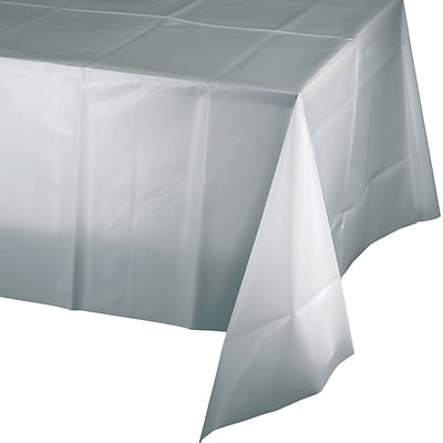Touch of Color Paper Tablecloth, Shimmering Silver (710236B)