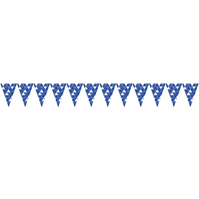 Celebrations Cobalt Blue Fractal Flag Banner (324464)