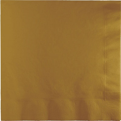 Touch of Color Glittering Gold Napkins 3 ply 50 pk (583276B)