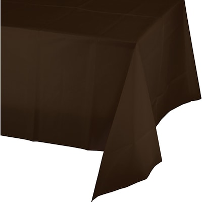 Touch of Color Chocolate Brown Plastic Tablecloth (723038B)