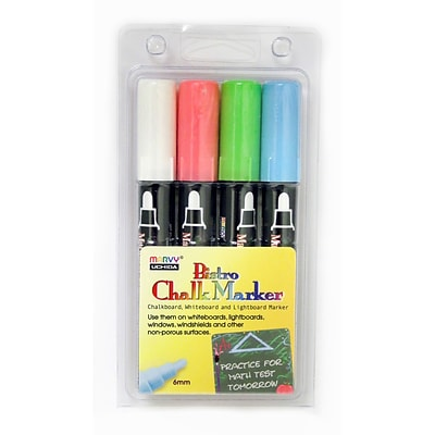 Uchida Bistro Chalk Markers, Set of 4 Colors (UCH4804ED)