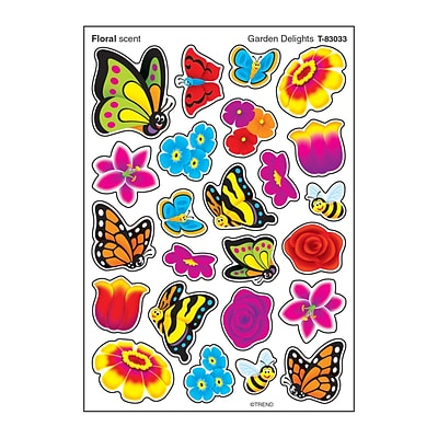 Trend Enterprises® Stinky Stickers® Garden Delights Floral 96ct per pack, bundle of 6 packs(T-83033)