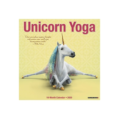 2020 Willow Creek 12 x 12 Wall Calendar, Unicorn Yoga, Multicolor (08089)