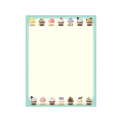 Great Papers! Iced Cupcakes Everyday Letterhead, Multicolor, 80/Pack (2019046)
