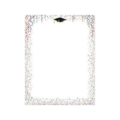 Great Papers! Celebrate Graduation Letterhead, Multicolor, 80/Pack (2019008)