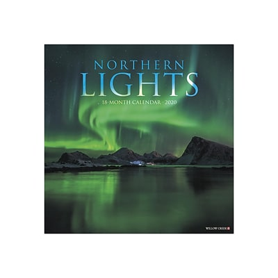2020 Willow Creek 12 x 12 Wall Calendar, Northern Lights, Multicolor (07297)