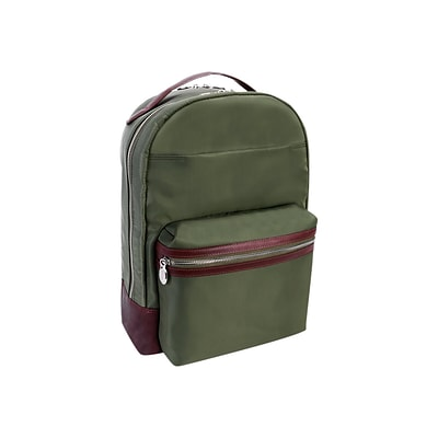 McKlein N Series PARKER Laptop Backpack, Solid, Green (18551)