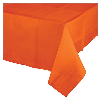 Celebrations Sunkissed Orange Plastic Tablecloth (913282)