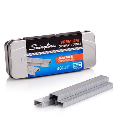 Swingline® Optima™ Premium Staples, 1/4 Length, 210/Per Strip, 3,750/Per Box (35556)