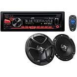 Jvcm Kd-pkr780bt Single-din In-dash Am/fm/cd Receiver With Bluetooth & Two 6.5 2-way Speakers