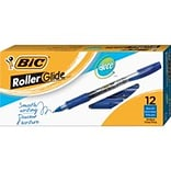 BIC Z4+ Rollerball Pens, Fine Point, Blue Ink, 12/Pack (32832)