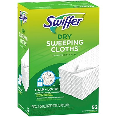Swiffer Sweeper Dry Sweeping Microfiber Pad, Unscented, 52/PK (2728764)