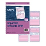 TOPS® Important Message Book, Ruled, 2-Part, White/Canary, 11 x 8 1/4, 1/Ea (4005)