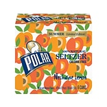 Polar Seltzers Nectarine Lemon Flavored Water, 12 Oz., 24/Carton (1001126)