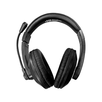 Hamilton Buhl Smart-Trek Deluxe Noise Canceling Stereo Computer Headset, Over-the-Head, Black/Silver (ST2BKU)