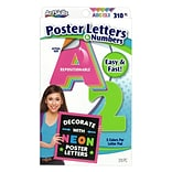 ArtSkills 3 Text Letters and Numbers, Assorted Neon Colors, 310/Pack (PA-1464)
