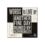 2019-2020 Assorted Publishers 12 x 12 Wall Calendar, Words to Live By, Multicolor (CA-0794)