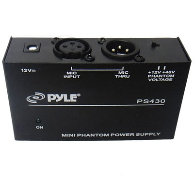PylePro 93583021M Compact 1-Channel 48V Phantom Power Supply