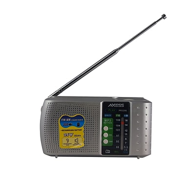 Axess 93597756M Portable Radio with Alarm Clock