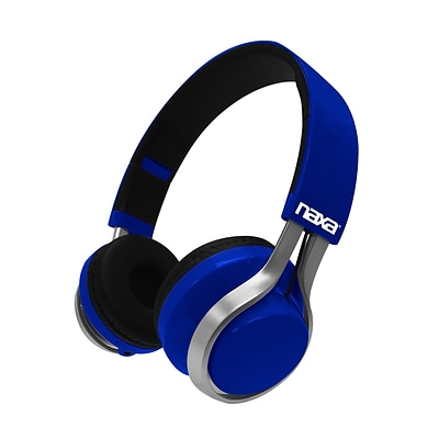 Naxa METRO GO NE-963 Wireless Bluetooth Stereo Headphones, Blue (92599640M)
