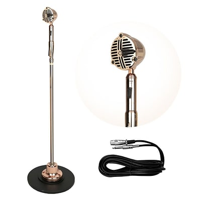 Pyle Pro PDMICR72GL Classic Retro Vintage Style Microphone with Swing Stand