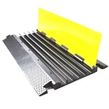 Pyle PCBLCO28 Yellow/Silver  Multi-Channel Cable Protective Cover Ramp For Cables/Wires/Cords
