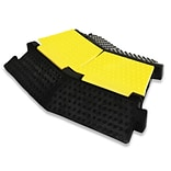 Pyle PCBLCO32 Yellow/Black Left-Turn Cable Protective Cover Ramp For Cables/Wires/Cords