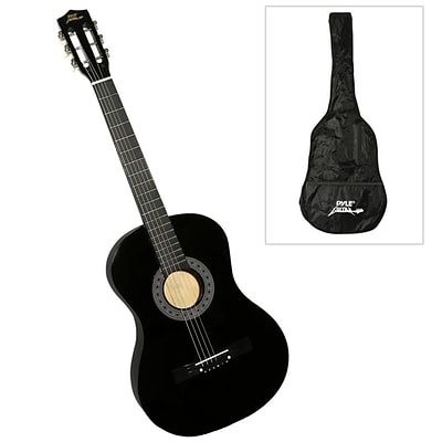 Pyle Pro PGAKT0392 6-String Beginners Acoustic Guitar, Wood , Black