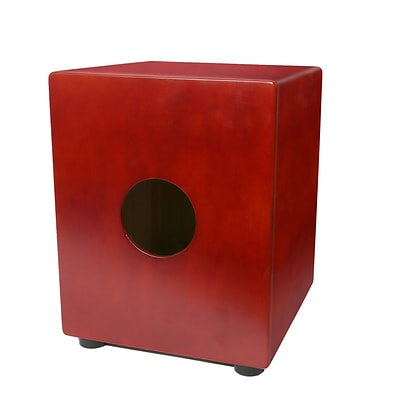Pyle PCJD15 Stringed Jam Cajon Percussion Box, Birch Wood, Red
