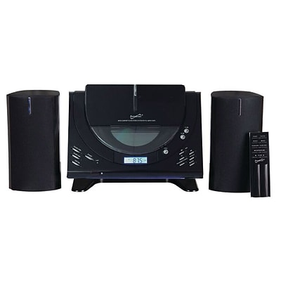 Supersonic SC-3499BT Home Audio Bluetooth System MP3/CD Player, Black