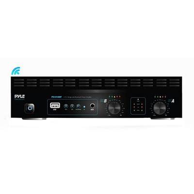 Pyle Home 1000W 2-Channel Bridge-able Bluetooth Power Amplifier PTA1010UBT with  MP3/USB/SD Readers