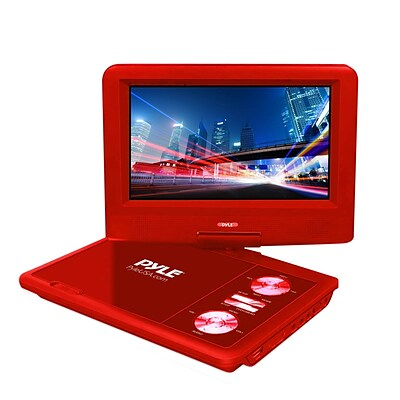 Pyle Home PDV71RD 7'' Portable CD/DVD Player, Red