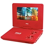 Pyle Home PDV91RD 9'' Portable CD/DVD Player, Red