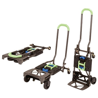 Cosco Shifter Multi-Position Folding Hand Truck and Cart, 300 lbs., Green/Black (12222PBG1E)