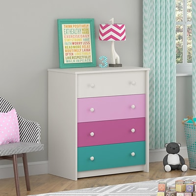 Ameriwood Home Kaleidoscope 4 Drawer Dresser, Whimsy (5888501PCOM)