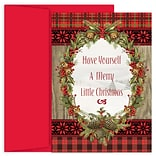 JAM Paper® Christmas Cards Boxed Set, Woodland Christmas, 18/Pack