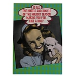 JAM Paper® Christmas Cards Boxed Set, Making You Feel Like a Dog Vintage, 10/Pack