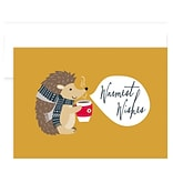 JAM Paper® Christmas Cards Boxed Set, Happy Hedgehog, 12/Pack