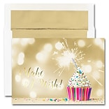 JAM Paper® Blank Birthday Card Sets, Birthday Candles Theme, 25/pack