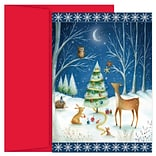 JAM Paper® Christmas Cards Boxed Set, Creatures Great And Small, 18/Pack
