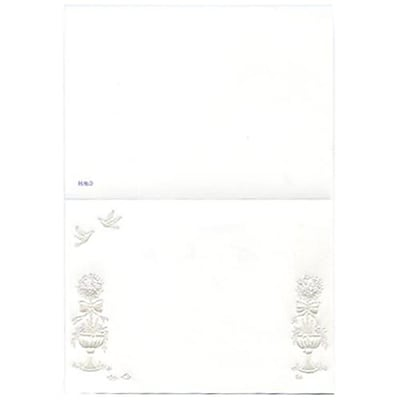JAM Paper® Blank Foldover Cards, 3 1/2 x 4 7/8 (Fits in 4bar A1 Envelopes), Dove and Flower, 500/Pack