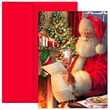 JAM Paper® Christmas Cards Boxed Set, Santas List And Milk, 18/Pack