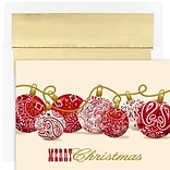 JAM Paper® Christmas Cards Boxed Set, Bandana Ornaments, 18/Pack