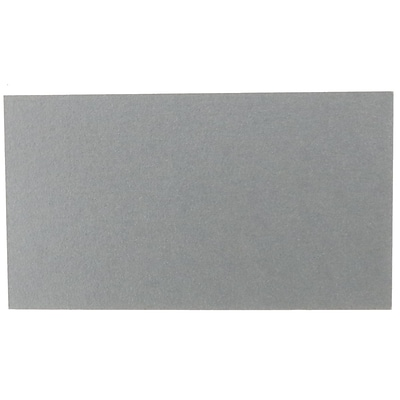 JAM Paper® Blank Flat Note Cards, 2 x 3 1/2 (Fits in 3Drug Envelopes), Silver Metallic Stardream, 500/Pack