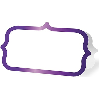JAM Paper® Ornate Wedding Table Place Cards, 3 1/4 x 4, Purple Foil Border, 24 Placecards/Pack