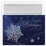 JAM Paper® Christmas Cards Boxed Set, Holiday Snowflake, 18/Pack